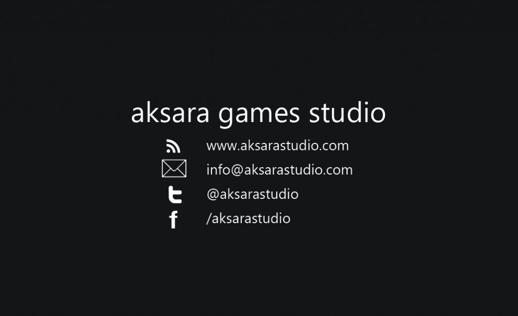 Aksara Games Studio - Business Card
