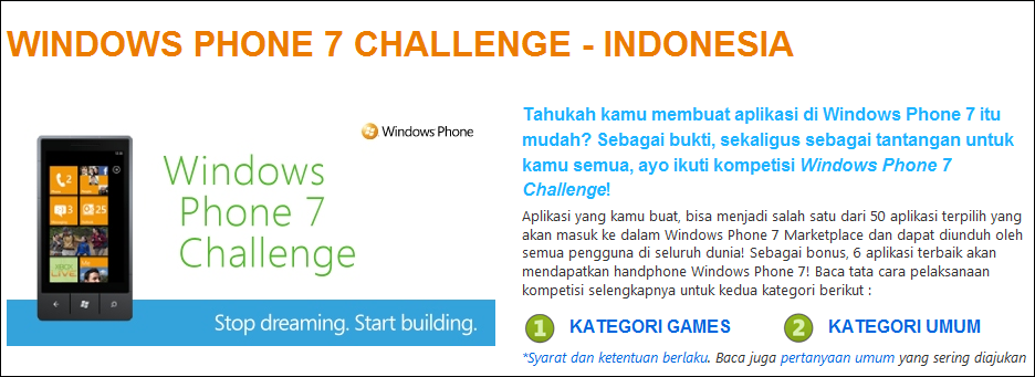 WP7 Challenge Indonesia