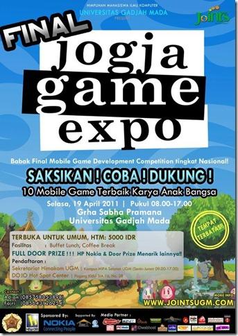 Jogja Game Expo Final Poster