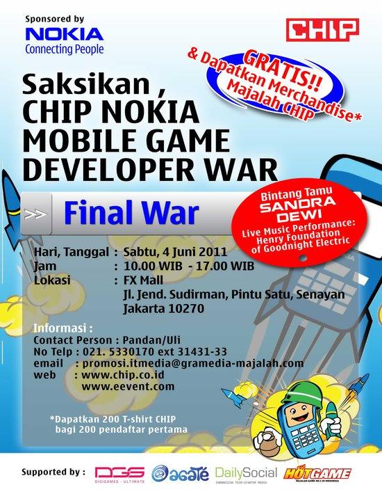 Poster CHIP Nokia Mobile Game Developer Final War