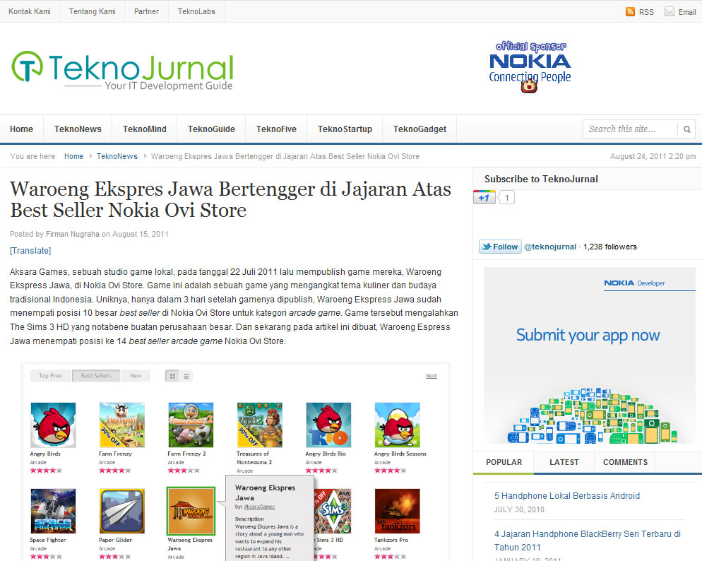 Waroeng Ekspres Jawa @TeknoJurnal