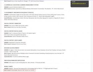 Aksara Games Studio got Merit Award INAICTA 2011