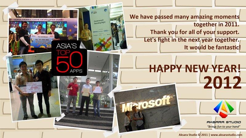 Aksara Studio - Happy New Year 2012