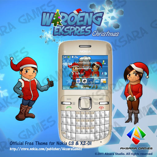Waroeng Ekspres Christmas Theme for Nokia S40 6th Edition