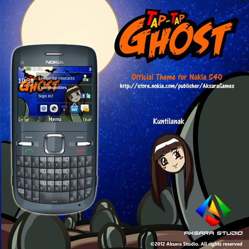 Tap Tap Ghost Kuntilanak Theme for Nokia S40 6th Edition