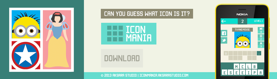 Icon Mania by Aksara Studio - Spotlight Banner